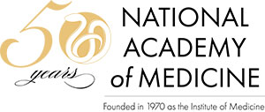 50th Anniversary logo, National Academy of Medicine, Founded in 1970 as the Institute of Medicine